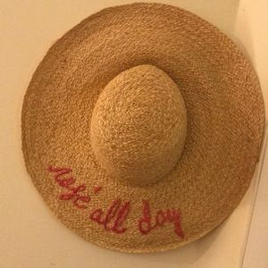 Rosé all Day straw hat